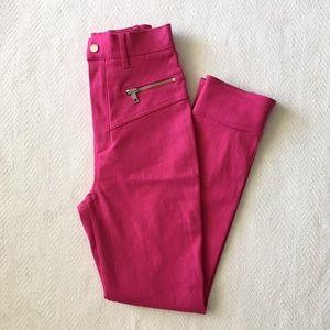Zara Hot Pink High Rise Zipper Jeans Pants